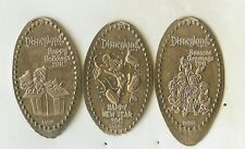 Disney 2011 Dlr Mickey Chip Dale Holiday Pressed Elongated 3 Nickel Set Retired