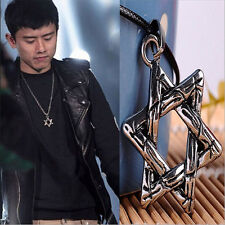 NEW Cool Gift Men Lucky Hexagram LOAC Fashion Pendant Necklace Chain 2015