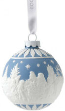 WEDGWOOD JASPER BAUBLE 'VISITING SANTA' HANGING CHRISTMAS TREE ORNAMENT - NEW