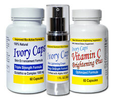 IvoryCaps Ivory Caps System1 Skin Whitening Lightening Glutathione Pills Cream