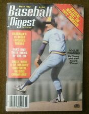 BASEBALL DIGEST MAGAZINE MARCH 1982 ROLLIE FINGERS, CY YOUNG & MVP AWARD WINNER
