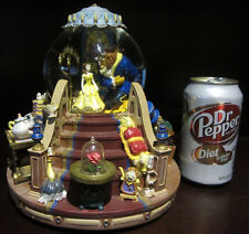 RARE Disney Catalog Beauty and the Beast Belle Chip Lumiere Snowglobe Music Box