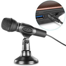 Mini Studio Microphone 3.5mm Plug With Desktop Stand For Computer Laptop Skype