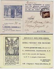 #ROMA: CHIOSTRO DELLA MINERVA- RITIRO MENSILE PER SIGNORE- P. I. TAURISANO