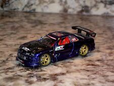 MUSCLE MACHINES TUNERS NISSAN 2000 SKYLINE GTR 1/64 DIE CAST CAR PURPLE