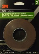 3M Auto Advanced Double Side Super Strength Molding Tape 1/2 in x 15 ft 03614