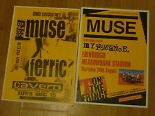 MUSE - UK tour concert gig posters x 2 - Exeter + Glasgow