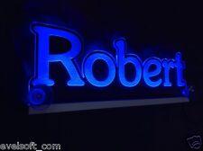 """LED LKW Trucker Namensschild """" Robert """" oder Ihr Wunschname als Gravur©"""
