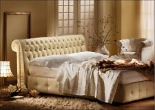 Letto capitonnè CHESTER in VERA PELLE -Chesterfield