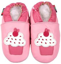 shoeszoo cupcake pink 12-18m S soft sole leather baby shoes