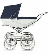 Silver Cross Kensington Hand-Crafted Pram Stroller - Navy/White