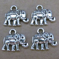 20pc Tibetan Silver Dangle Elephant Animal Pendant Charms Jewelry Making 57AF