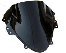 BLACK SMOKE DOUBLE BUBBLE WINDSCREEN WINDSHIELD for SUZUKI GSXR600 GSXR750 04-05