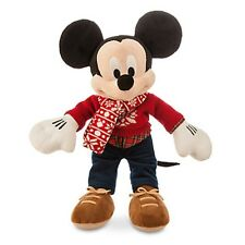 "MICKEY MOUSE HOLIDAY PLUSH 15"" ""DISNEY STORE 2015"" EMBROIDERED ON FOOT CHRISTMAS"