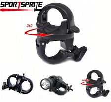 360 Rotation Bike LED Front Flash Light Torch Lamp Mount Clip Holder Bracket DE
