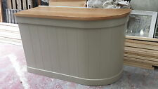 Curvo bancone da negozio bancone da/Home BEVANDE BAR IN ROVERE TOP/MADE TO MEASURE/FARROW and Ball