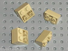 4 x LEGO Tan Slope Brick 3660 / Set 4757 4852 6098 7419 7255 5378 4709 7682 ....