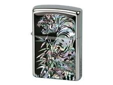 "ZIPPO ""MOTHER OF PEARL - TIGER"" LIGHTER * NEW in WOODEN BOX *"
