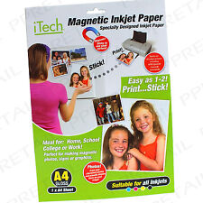 A4 MAGNETIC PHOTO GLOSS PAPER★SUITABLE FOR ALL INKJET PRINTERS★ Fridge Card Gift