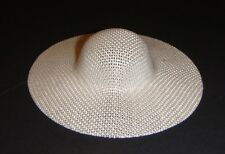 Barbie Doll Sized Fashion White Straw Hat For Barbie Dolls ac44