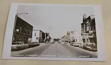 vintage WEBSTER City IOWA RPPC Main Street 1950s names on businesses