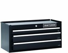 "Craftsman 26"" inch 3-Drawer Heavy-Duty Ball Bearing Middle Chest Black"