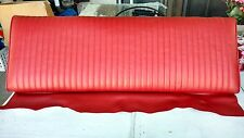 1965 Mustang Fastback Rear Seat Back - Top - Upper With Frame - Red As-Pictured