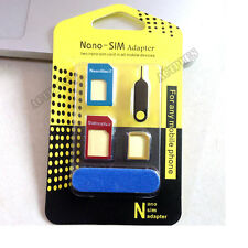5in1 Metal Nano SIM Card to Micro Standard Adapter Converter for iPhone 6 5