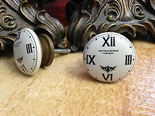 CLOCK FACE CABINET DRAWER DRESSER FURNITURE CERAMIC PULL KNOBS SPECIAL