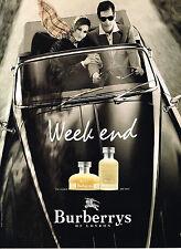 PUBLICITE  1997   BURBERRYS OF LONDON parfum WEEK END