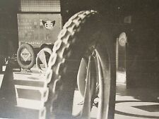 ANTIQUE WW1 ERA ARTISTIC UNITED STATES TIRE AUTOMOBILE SIGN NOBBY REO WING PHOTO
