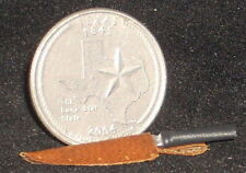 Dollhouse Miniature Western Cowboy Brown Bowie Knife 1:12 Left Point Alamo Texas