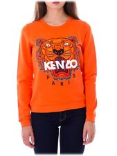 100% Authentic Kenzo Orange embroiderd tiger jumper sweatershirt - S