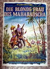 Blonde Frau des Maharadscha * A1-FILMPOSTER -Ger 1-Sheet GEROLLT ´62 VEIT HARLAN