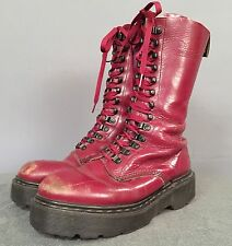 Dr Martens Docs Oxblood Cherry Red Tall Made In ENGLAND Boots UK 8 US 10 Men