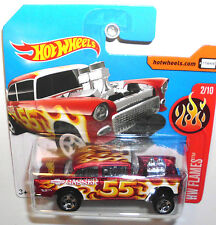 FREE safe from 6) HOT WHEELS Rod Rosso'55 CHEVY BEL AIR Gasser muscle car (h239