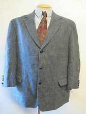 "Véritable Harris Tweed Carreaux Gris Hommes Blazer Jacket 48 ""s euro 58"