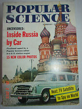 POPULAR SCIENCE - Feb. 1958 - TV SATELLITE TO SPY ON WORLD - INSIDE RUSSIA BYCAR