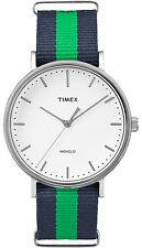 Orologio Timex TW2P90800 uomo cassa acciaio indiglo weekender nylon verde e blu