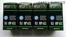 KTM EXC 450 / Six Days (2009 to 2011) HifloFiltro Oil Filter (HF652) x 4 Pack