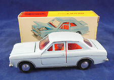 DINKY TOYS 168 FORD ESCORT in blu chiaro originale & SUPERBA
