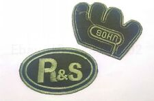 Iron On Patch Sew Embroidered Trim 9CM baseball football fabric stickers green