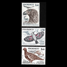 Monaco 1982 - Birds from Mercantour National Park Fauna - Sc 1326/30 MNH