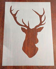 Large A3 Stag's Head Stencil + Positive Mask Reusable Mylar Sheet Arts & Crafts