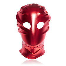 Slave Open Eye Hood Satin Gimp Mask - Black Or Red Colour - Roleplay Fancy Dress