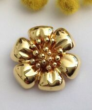 """SPILLA  FIORE  IN ORO GIALLO 18KT - 18KT SOLID  YELLOW GOLD """" FLOWER """" BROOCH"""