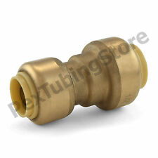 """1/2"""" x 3/8"""" Sharkbite Style Push-Fit Lead-Free Brass Reducing Coupling Fitting"""