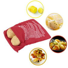Potato Corns Bread Microwave Cooker Bag Washable Baked Cooking Roast New DT