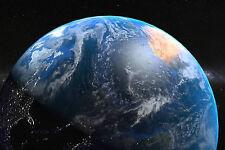 Encadrée Imprimer-Plante Terre de l'espace (photo Galaxy Univers Lune mars Sun)