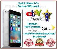 1-7 DAYS Sprint Boost iPhone 7 7 Plus 7+ Factory SIM Unlock Service 100% Success